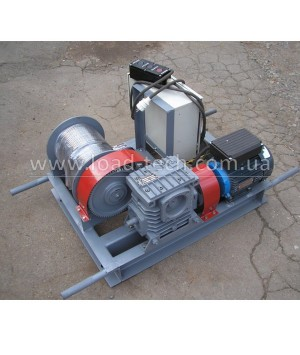 Single-phase electric winch 0,5tn 60m