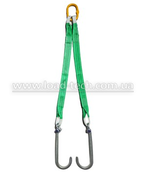 Textile V-sling for tow truck