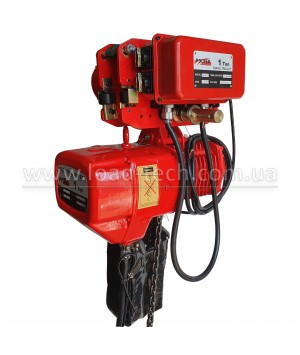 Hoist electric chain SGW POLTEK with a mobile cart