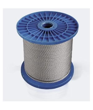 Steel rope DIN 3055 in PVC sheath