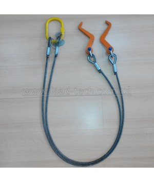 Horizontal clamp for cable drum