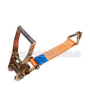 Short part of a ratchet tie down