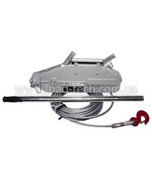 Gripper wire rope hoist