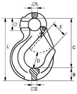 Крюк чалочный G80