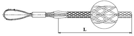 Чулок для линий электропередач чертеж