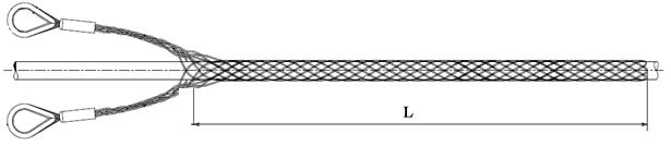 Чулок сквозной двухпетлевой чертеж